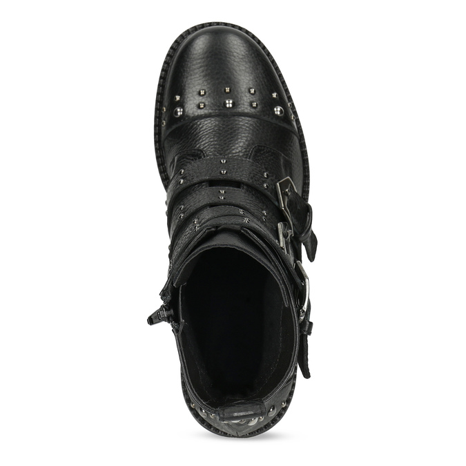 Dámské zimní polokozačky s přezkami bata, černá, 596-4705 - 17