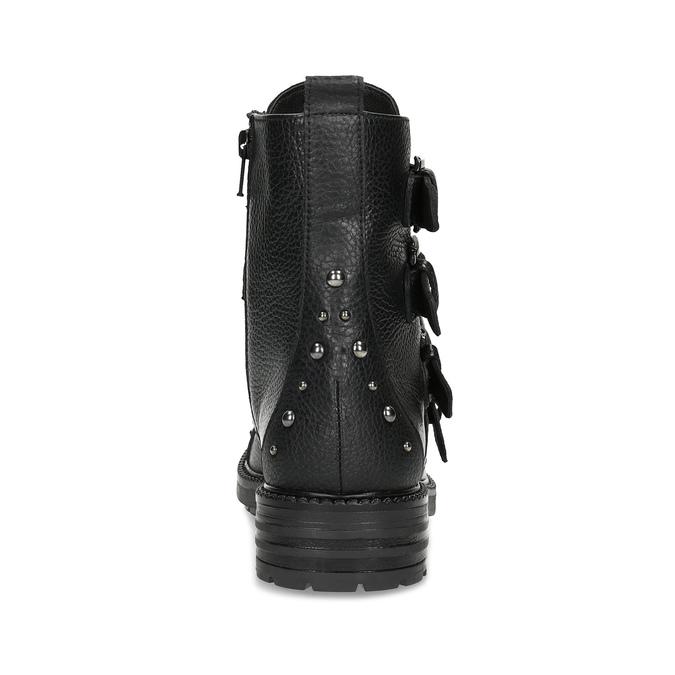 Dámské zimní polokozačky s přezkami bata, černá, 596-4705 - 15