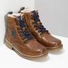 Chlapecká kotníčková obuv s kožíškem mini-b, hnědá, 414-3603 - 26