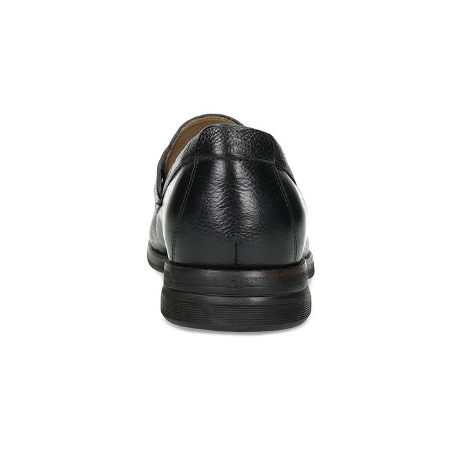 Kožené Penny Loafers mokasíny černé comfit, černá, 814-6627 - 15