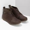 Dámská kožená kotníčková obuv tmavě hnědá el-naturalista, hnědá, 626-4088 - 26