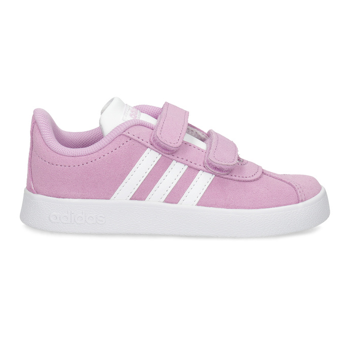 Růžové kožené dětské tenisky adidas, růžová, 103-5203 - 19