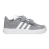 Šedé dětské tenisky z broušené kůže adidas, šedá, 103-2203 - 19