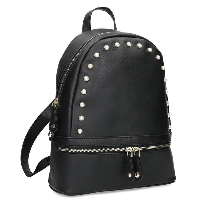 Městský batůžek s perličkami bata, černá, 961-6906 - 13