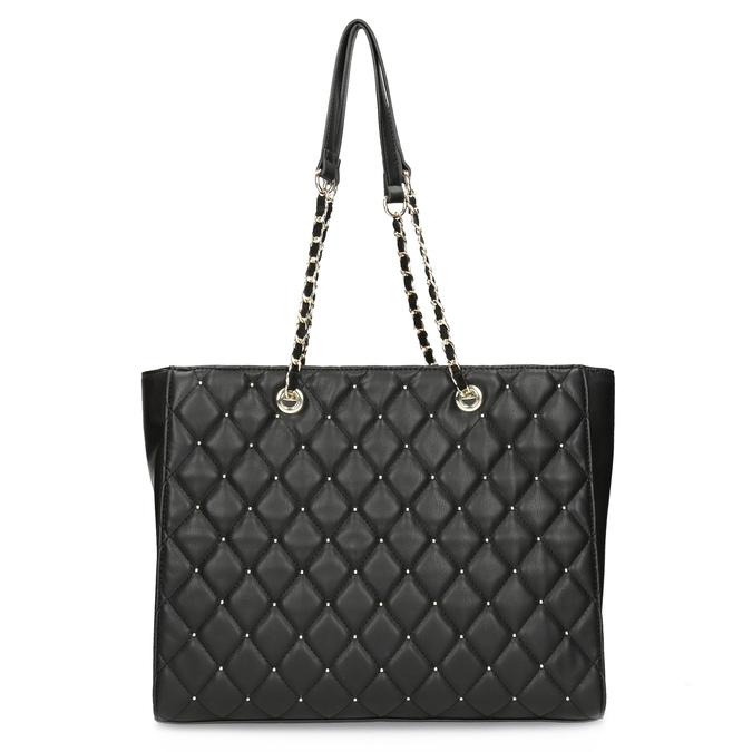 Černá prošívaná kabelka se zlatým řetízkem bata, černá, 961-6908 - 16