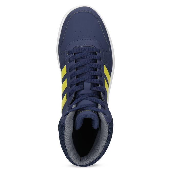 Dětské modro-žluté kotníčkové tenisky adidas, modrá, 401-9345 - 17