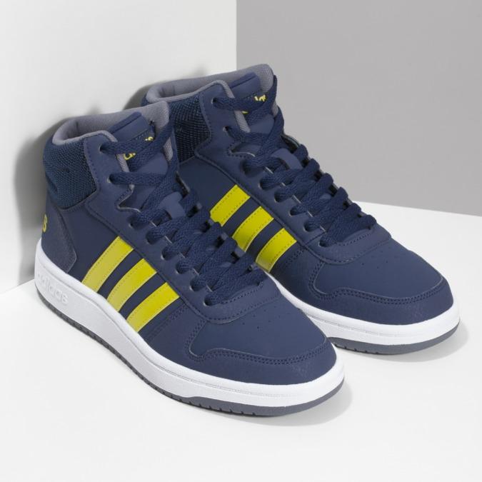 Dětské modro-žluté kotníčkové tenisky adidas, modrá, 401-9345 - 26