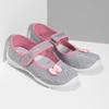 Dětská domácí obuv s mašličkou mini-b, stříbrná, 379-1314 - 26