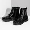 Zimní lesklá kotníčková obuv dívčí mini-b, černá, 391-6170 - 16