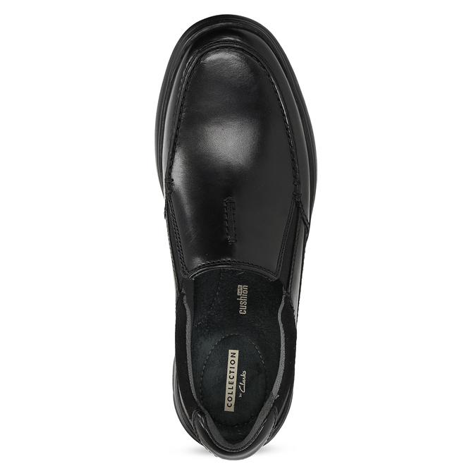 Pánské kožené černé mokasíny clarks, černá, 814-6072 - 17