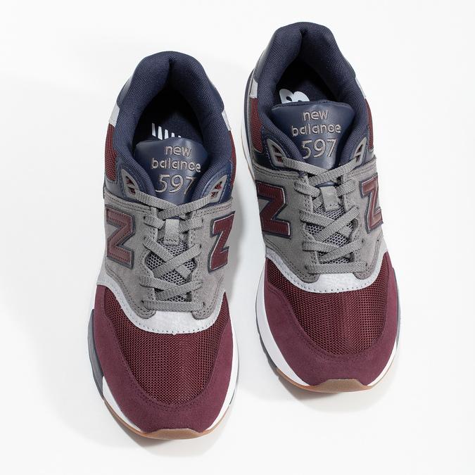 Pánské tenisky z broušené kůže new-balance, červená, 803-5171 - 16