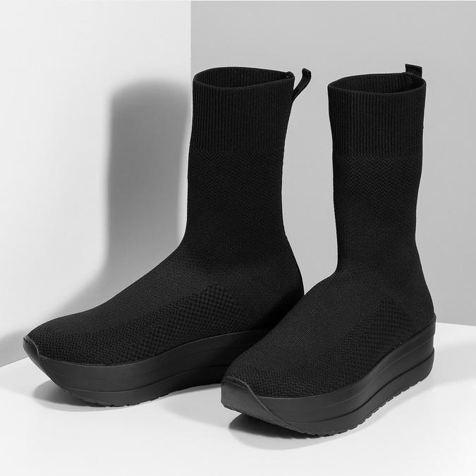 Dámská černá kotníčková obuv vagabond, černá, 719-6050 - 16