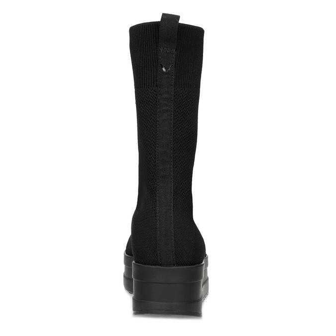 Dámská černá kotníčková obuv vagabond, černá, 719-6050 - 15