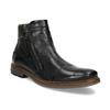 Pánská kotníčková obuv se zipem černá bugatti, černá, 816-6026 - 13