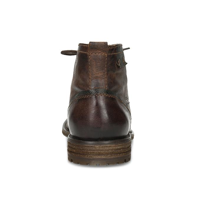Kotníčková obuv s vázáním pánská bugatti, hnědá, 826-4056 - 15