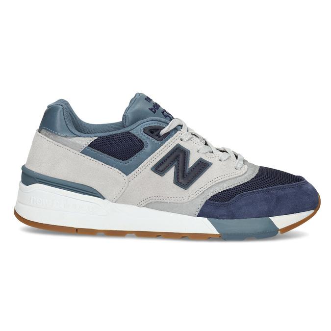 Pánské tenisky z broušené kůže new-balance, modrá, 803-9171 - 19