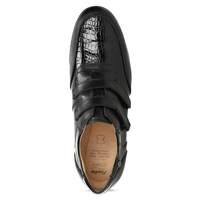 Kožené ležérní tenisky na suché zipy comfit, černá, 624-6160 - 17