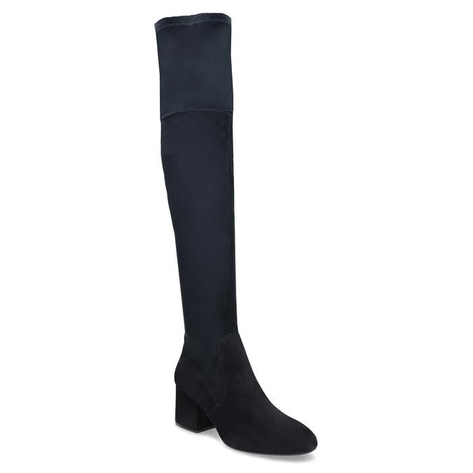 Modré dámské kozačky nad kolena bata, modrá, 793-9614 - 13