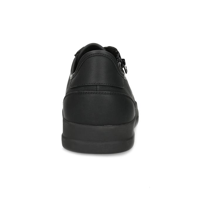 Pánské černé tenisky se zipem bata-red-label, černá, 841-6622 - 15