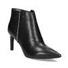 Kožená kotníčková obuv s kovovou aplikací bata, černá, 796-6659 - 13
