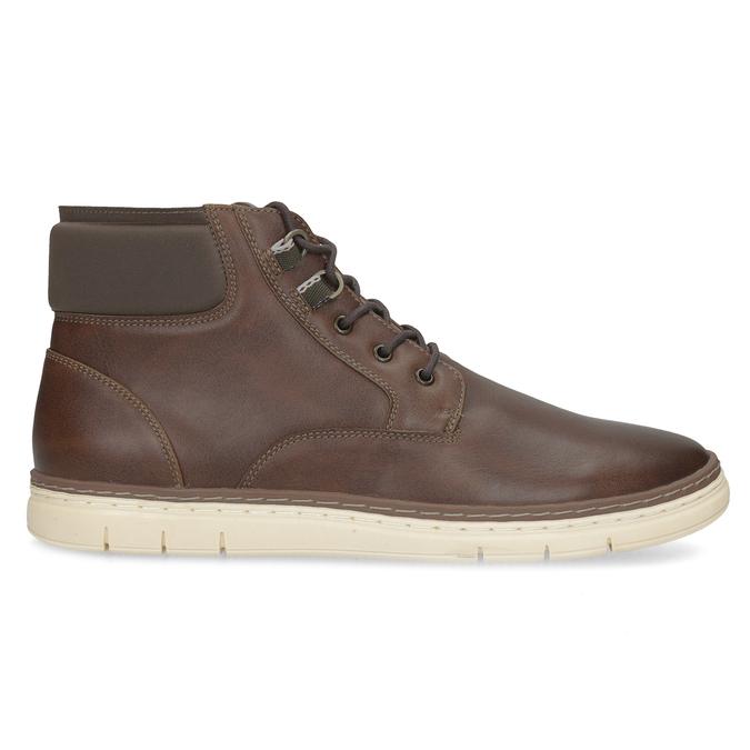 Pánská kotníčková obuv tmavě hnědá bata-red-label, hnědá, 821-4602 - 19