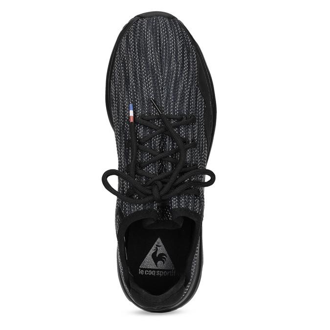 Černé pánské tenisky se žíhaným vzorem le-coq-sportif, černá, 809-6152 - 17