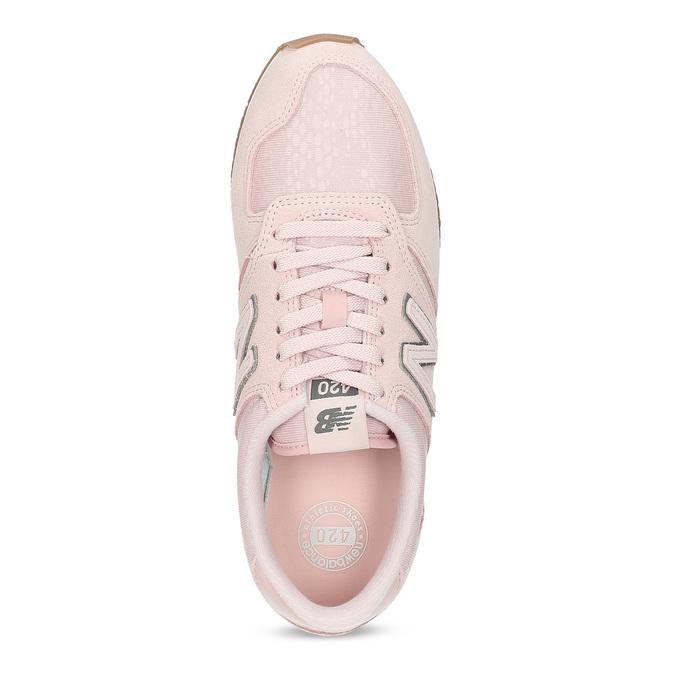 Růžové dámské tenisky z broušené kůže new-balance, růžová, 503-5172 - 17