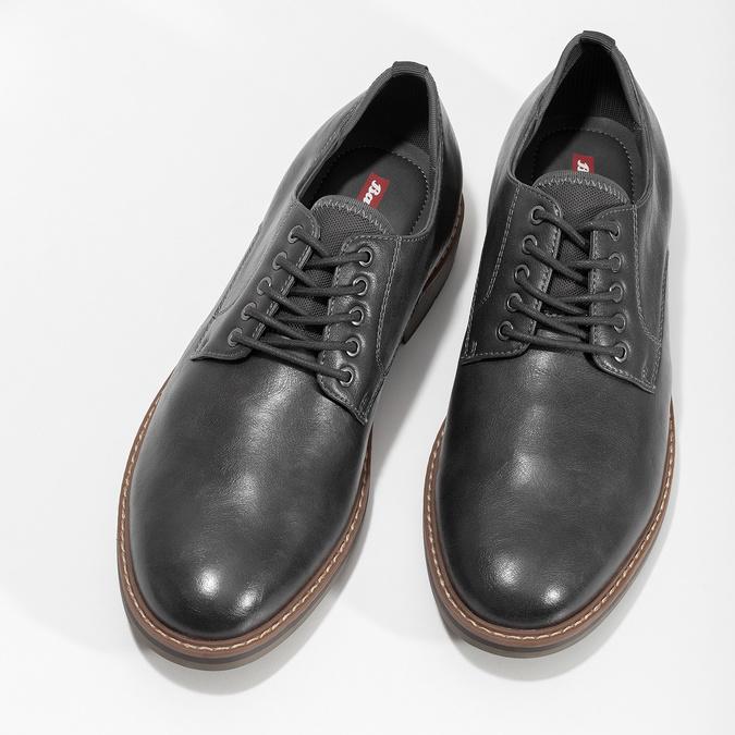 Pánské polobotky tmavě šedé bata-red-label, šedá, 821-2606 - 16