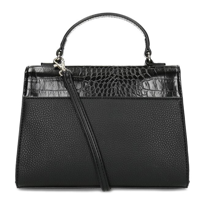 Černá kabelka s imitací hadí kůže bata-red-label, černá, 961-6892 - 16