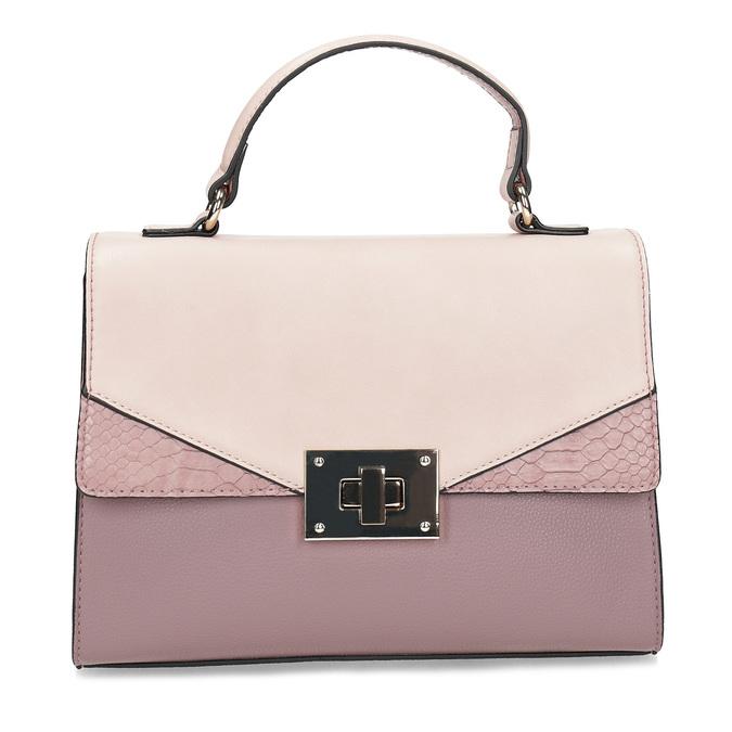 Starorůžová dámská kabelka bata-red-label, růžová, 961-9892 - 26