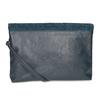 Tmavě modré psaníčko s klopnou a kamínky bata, modrá, 961-9910 - 16