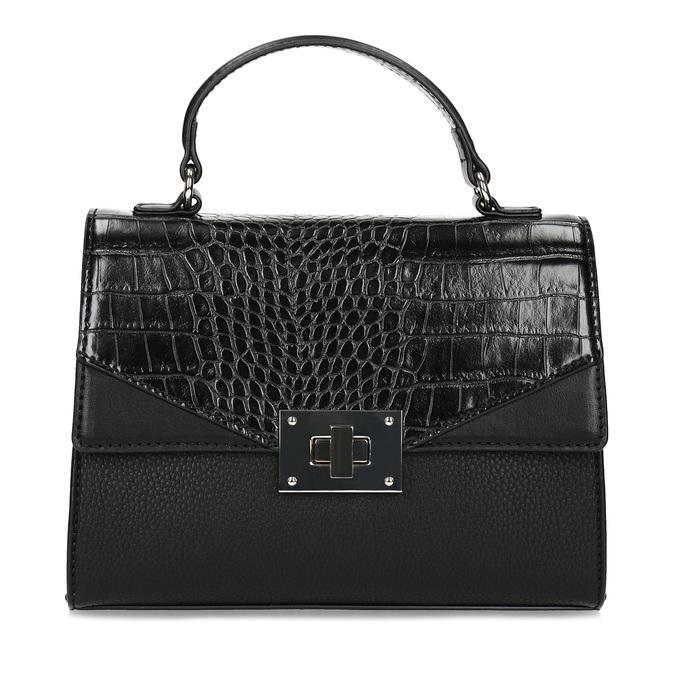 Černá kabelka s imitací hadí kůže bata-red-label, černá, 961-6892 - 26