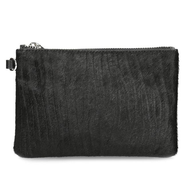 Kožená kapsička s kožešinkou bata, černá, 944-6227 - 26