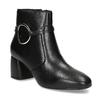 Kožená dámská kotníčková obuv bata, černá, 694-6665 - 13