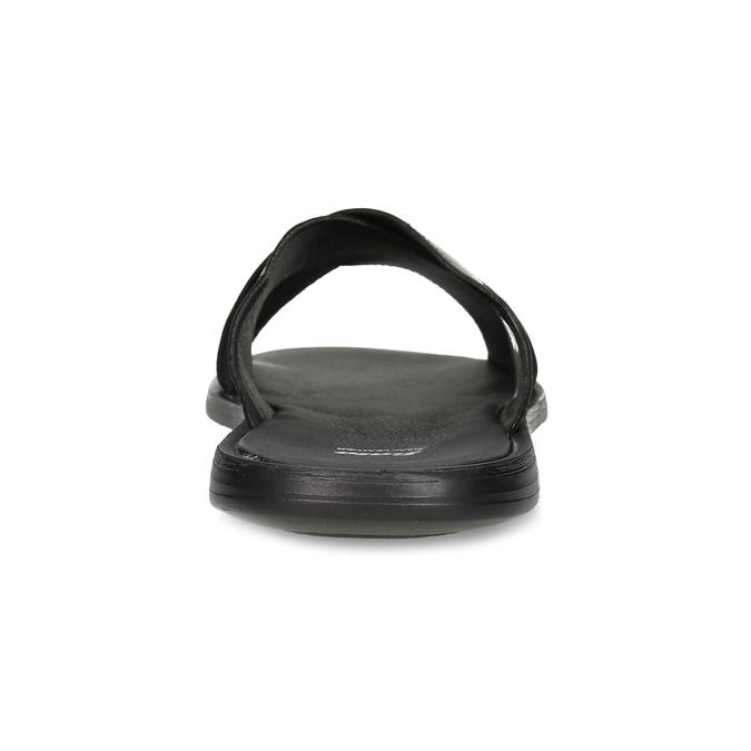 Pánské kožené nazouváky s křížením bata, černá, 874-6601 - 15