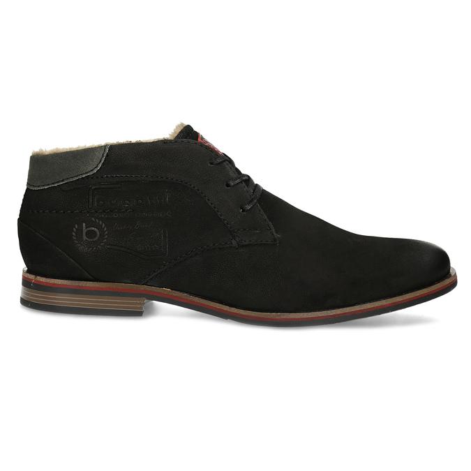 Zimní pánská kožená obuv černá bugatti, černá, 829-6049 - 19