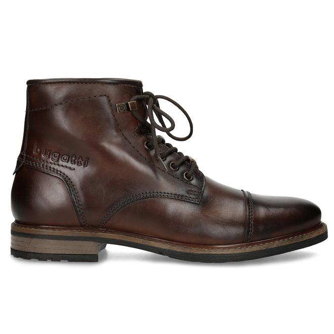 Zimní pánská kotníčková obuv kožená bugatti, hnědá, 896-3023 - 19