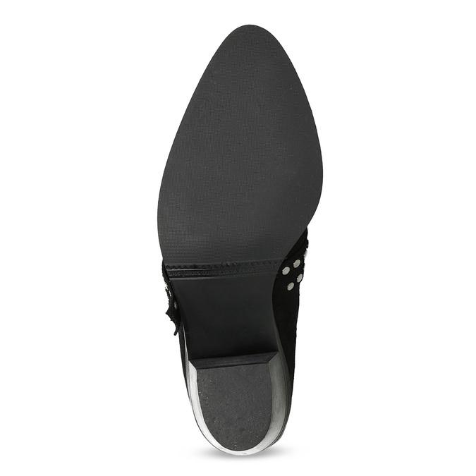 Kožená kotníčková obuv ve western stylu bata, černá, 696-6663 - 18