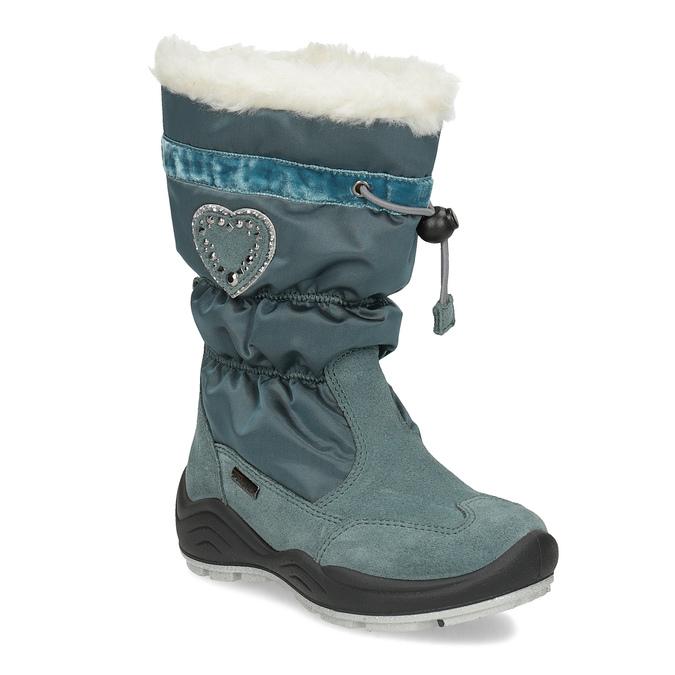 Dívčí sněhule s kamínky mini-b, modrá, 399-7658 - 13