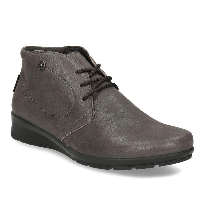 Dámská kožená kotníčková obuv comfit, hnědá, 596-4707 - 13
