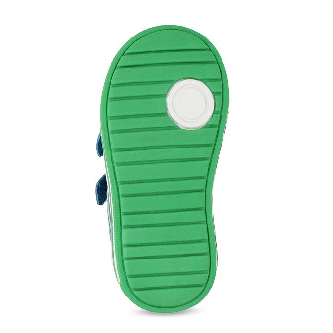 Modré dětské tenisky se zeleným detailem bubblegummers, modrá, 111-9625 - 18