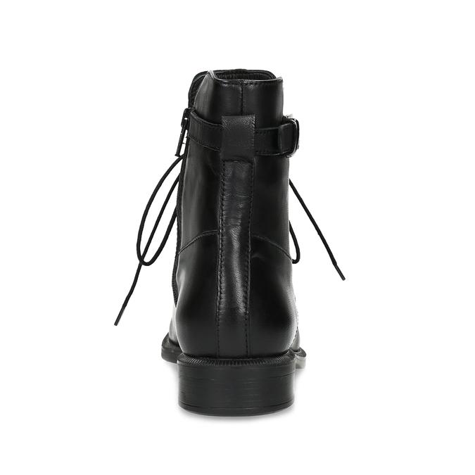 Zimní kotníčková obuv s přezkou bata, černá, 594-6674 - 15