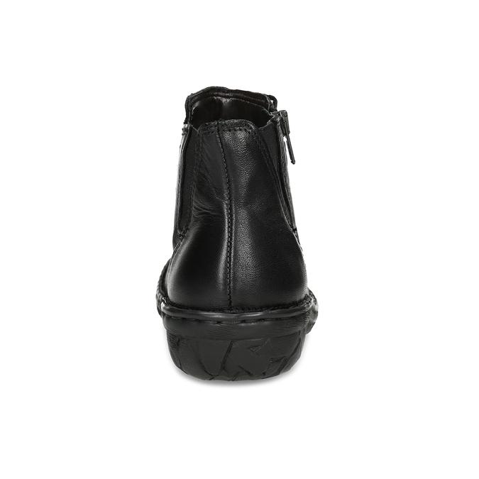 Dámská kotníčková zimní obuv kožená bata, černá, 594-6708 - 15