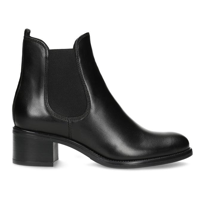 Kožené dámské Chelsea  na podpatku bata, černá, 694-6667 - 19