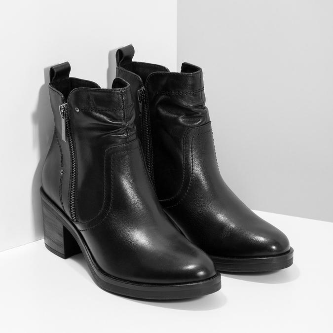 Dámská kotníčková zimní obuv na podpatku bata, černá, 694-6672 - 26