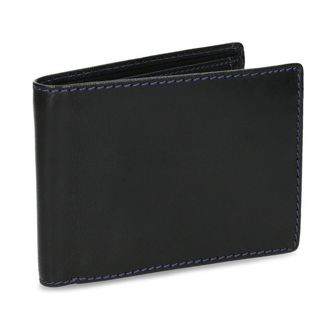 Kožená peněženka s modrým prošitím bata, černá, 944-6218 - 13