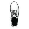 Dámská bílá kožená kotníčková obuv bata, bílá, 594-1709 - 17