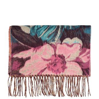 Šála s květinovým vzorem fialová bata, červená, 909-5722 - 13