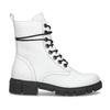 Dámská bílá kožená kotníčková obuv bata, bílá, 594-1709 - 19