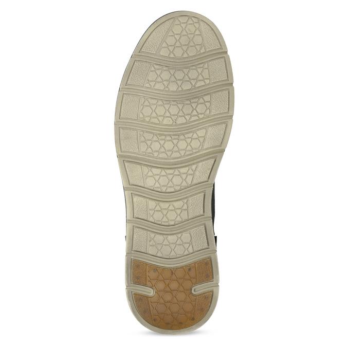 Kotníčková kožená pánská obuv s prošitím weinbrenner, černá, 846-6719 - 18